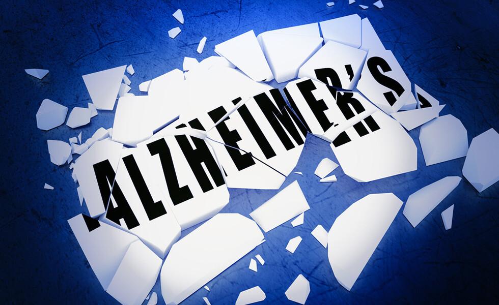 Alzheimer-Demenz abstrakt mit gebrochenem Stein dargestellt © BladeTucker / shutterstock.com