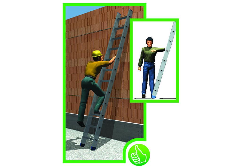 Grundregeln helfen, um Unfälle mit Leitern zu verhindern. © AUVA-Landesstelle Wien
