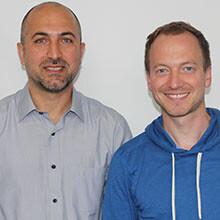 Dr. Ali Önder Yildirim und Dr. Gerrit John-Schuster. © HGMU
