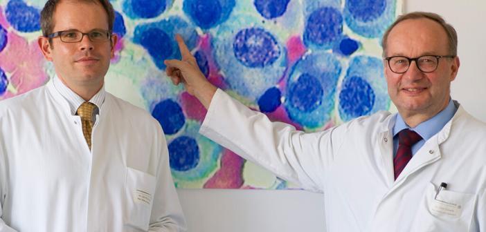 Prof. Hermann Einsele und PD Dr. Stefan Knop, Spezialisten für Multiples Myelom am Uniklinikum Würzburg, waren maßgeblich an der Studie zu Elotuzumab beteiligt. © Universitätsklinikum Würzburg
