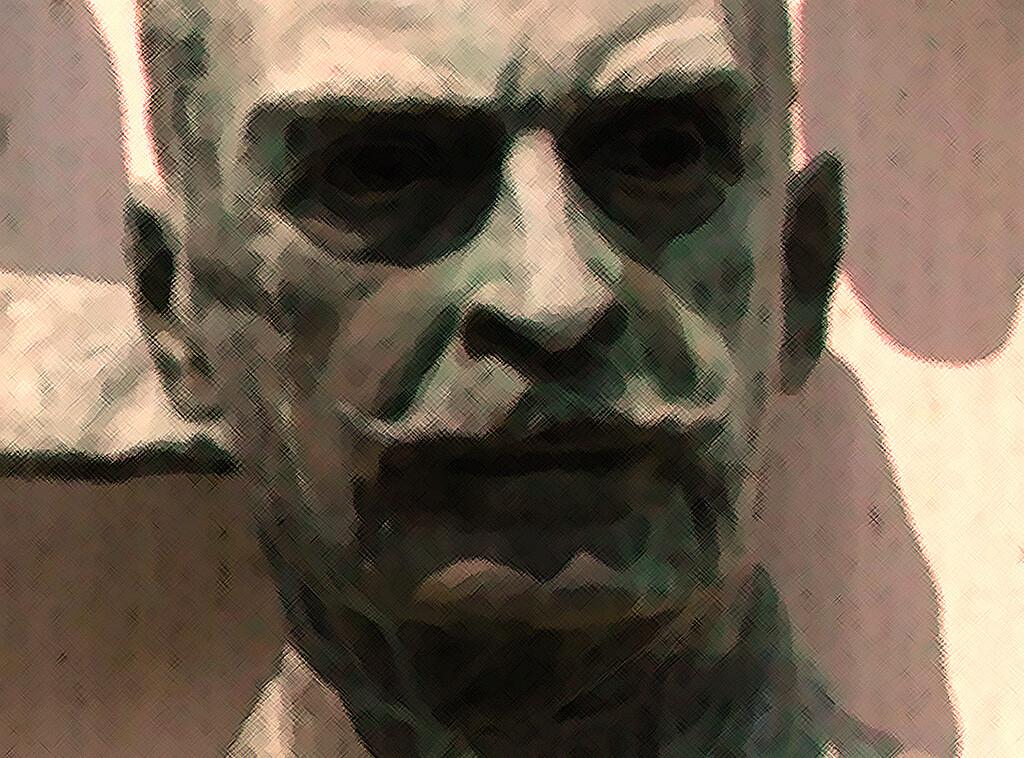 Dr. Karl Landsteiner war österreichisch-US-amerikanischer Pathologe, Bakteriologe und Serologe. 1901 entdeckte er das AB0-System der Blutgruppen. © Henry Lytton Cobbold / Karl Landsteiner Bronzebüste in der Polio Hall of Fame im Roosevelt Warm Springs Institute for Rehabilitation in Warm Springs, Georgia, USA.