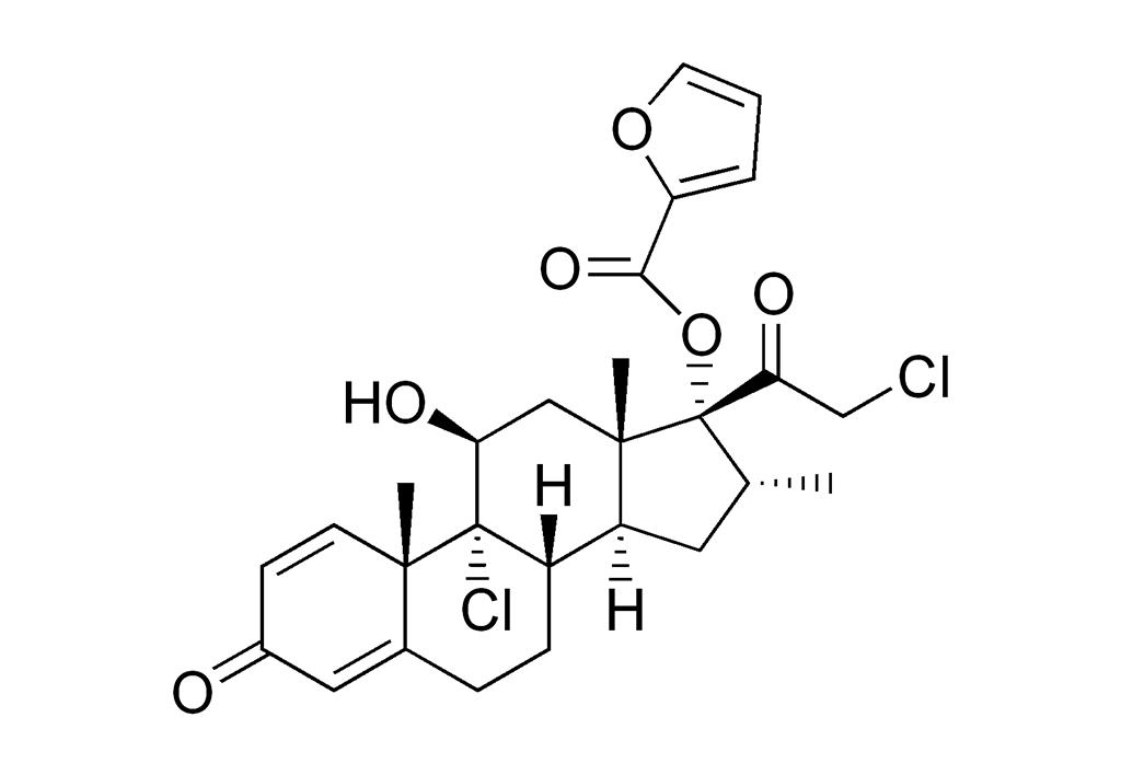 Strukturformel von Mometason