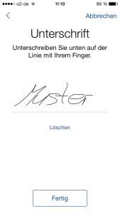 Die Einwilligung zur Studie wird per Unterschrift auf dem Gerät erteilt © Universitätsklinikum Freiburg