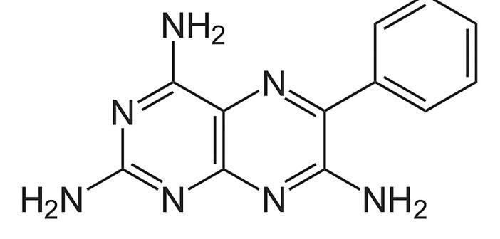 Triamteren verstärkt die antihypertone Wirkung von Hydrochlorothiazid.