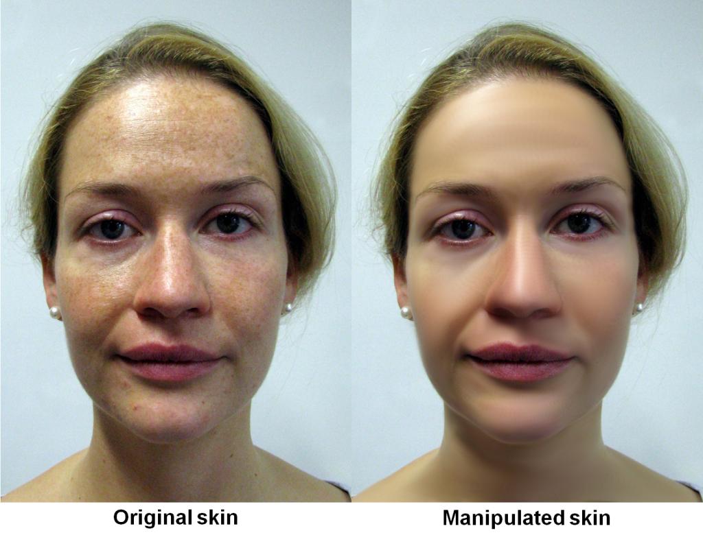 Wie ist Ihr erster Eindruck? Unbearbeitetes und manipuliertes Foto eines Gesichts, wie es auch in der nun vorliegenden Studie der Bremer Jacobs University benutzt wurde. © Jacobs University