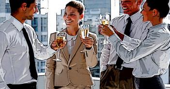Alkohol am Arbeitsplatz wird oft durch Trinksitten, Feiern und Bräuchen forciert. © wavebreakmedia / shutterstock.com