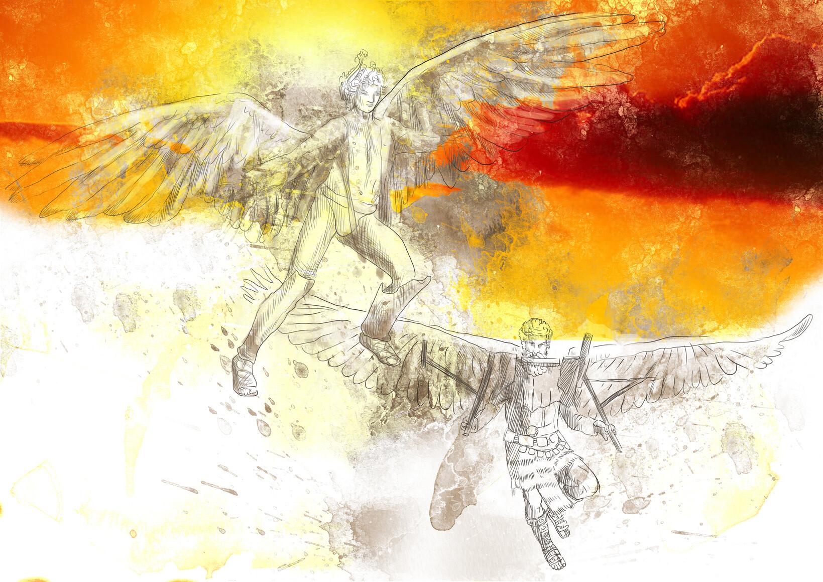 """Daedalus-Dilemma"" des Immunsystems nimmt Anleihe bei Daedalus und Icarus aus der griechischen Mythologie. © kuco_Fotolia.com"