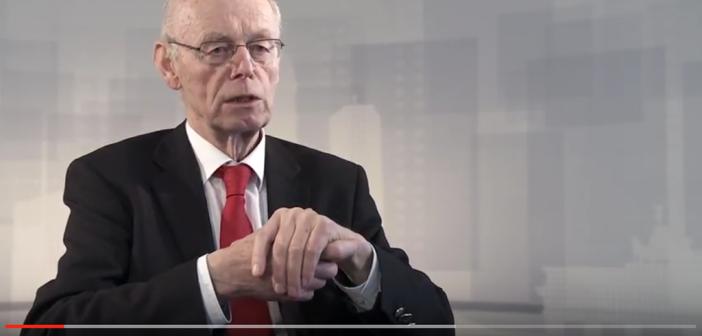 Prof. Dr. Detlev Ganten erörterte wie man recht einfach den Blutzucker senken kann. Im Bild: Detlev Ganten auf Youtube.