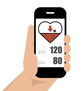 Smartphone und APPs sind nicht geeeignet, umn den Blutdruck richtig messen zu können, warnt die DHL. © marina_ua / shutterstock.com