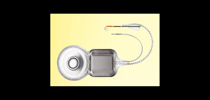 8,6 g leicht mit einem 3,9 mm dünnen Profil-Implantkörper: Das neue Nucleus Profile Implantat mit Slim Modiolar-Elektrodenträger (CI532) © Cochlear