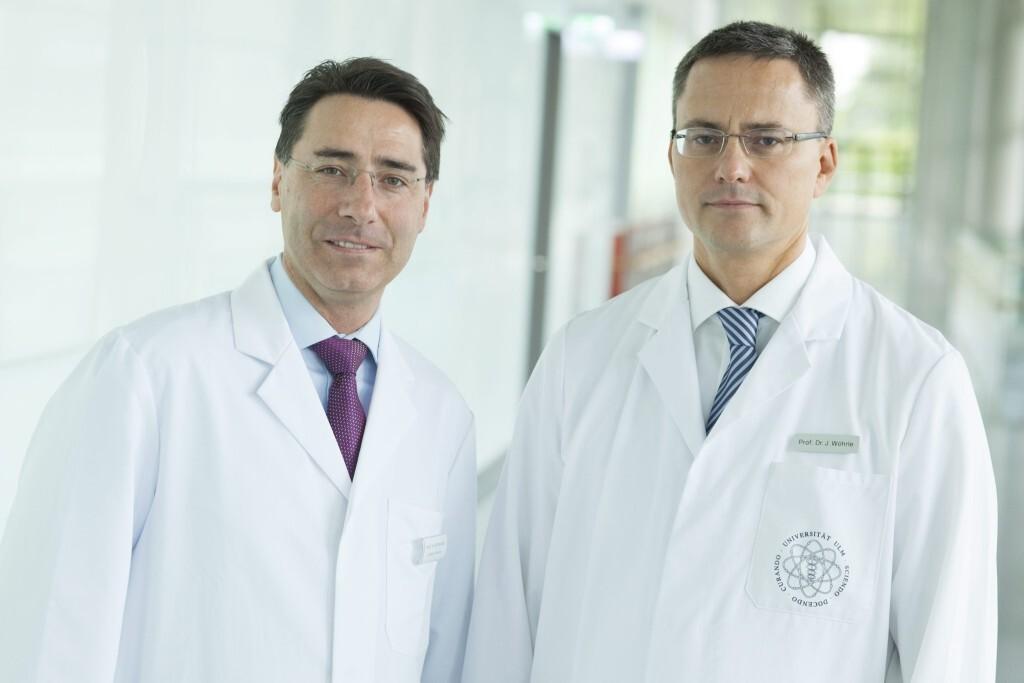 Prof. Dr. Wolfgang Rottbauer und Prof. Dr. Jochen Wöhrle © Universitätsklinikum Ulm