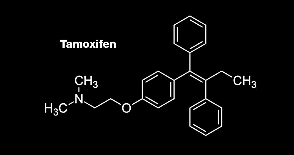 Struckturformel von Tamoxifen.