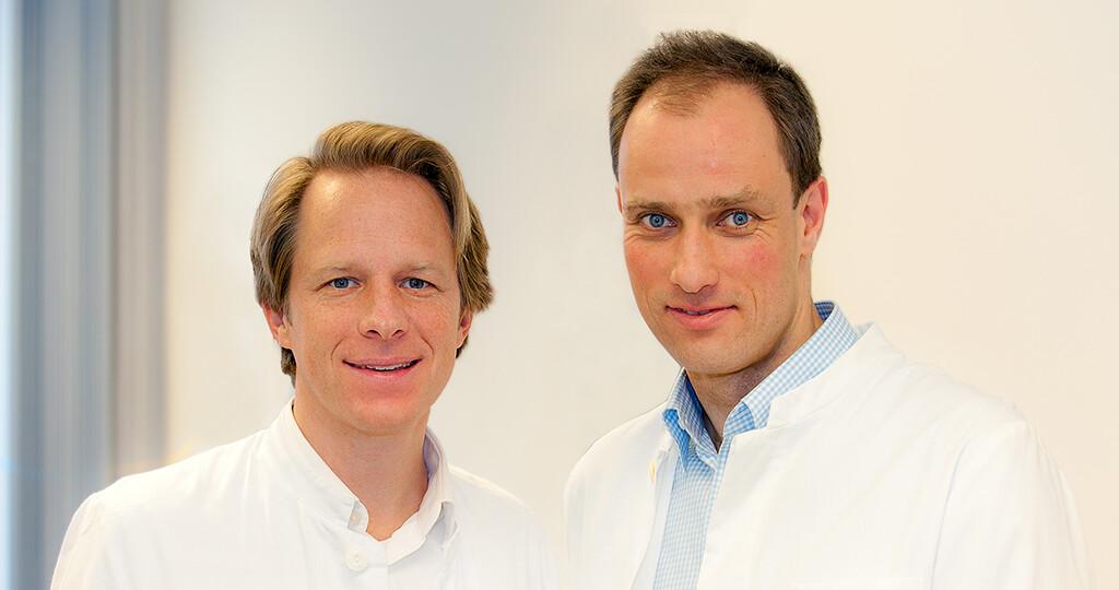 Professor Dr. Tillmann Krüger (links) und Privatdozent Dr. Marc Axel Wollmer initiierten eine Studie zu Botox gegen Borderline-Störungen. © MHH / Kaiser