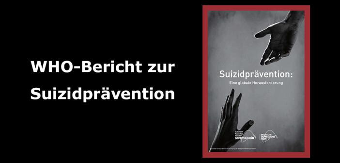Cover des WHO-Berichts zur Suizidprävention (deutsche Fassung) – Stiftung Deutsche Depressionshilfe, 2016