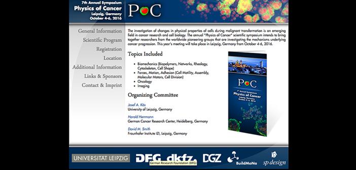 Physics of Cancer – Weltkonferenz zur Physik von Krebszellen, 4. bis 6. Oktober in Leipzig
