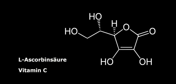 Ascorbinsäure gibt es in vier verschiedenen Stereoisomeren, biologische Aktivität weist jedoch nur die L-Ascorbinsäure auf.