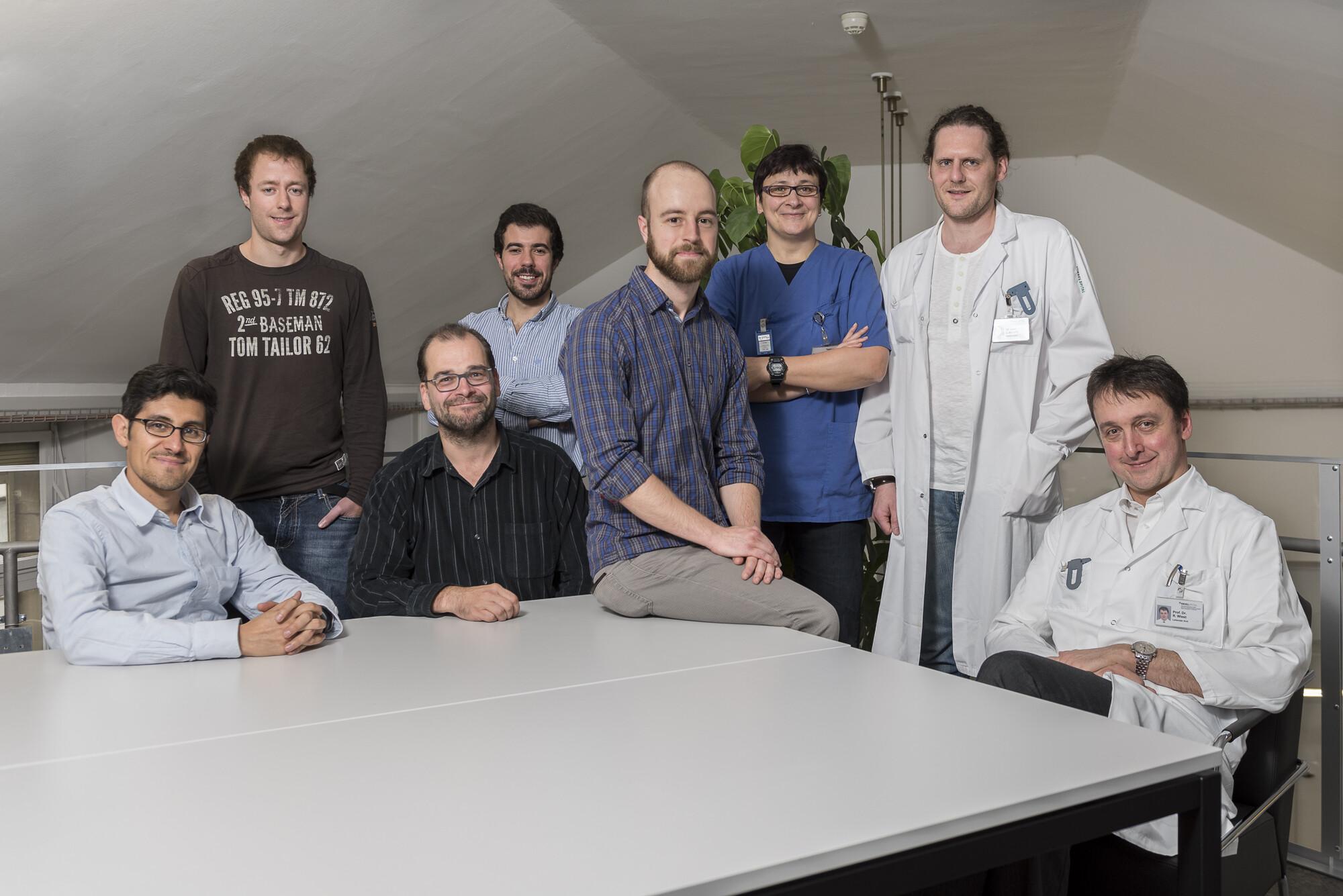 Das erfolgreiche Team: Forscher der Universitätsinstitut für Neuroradiologie und der Universität Bern, die BraTumIA – eine Version der Berner Software – entwickelt und validiert haben. © Pascal Gugler