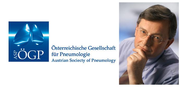 Prim. Univ.-Prof. Dr. Meinhard Kneussl, Präsident der Österreichischen Gesellschaft für Pneumologie – ÖGP-Jahrestagung 2016 unter dem Motto Quality of Care. © Logo ÖGP / Foto Wilke