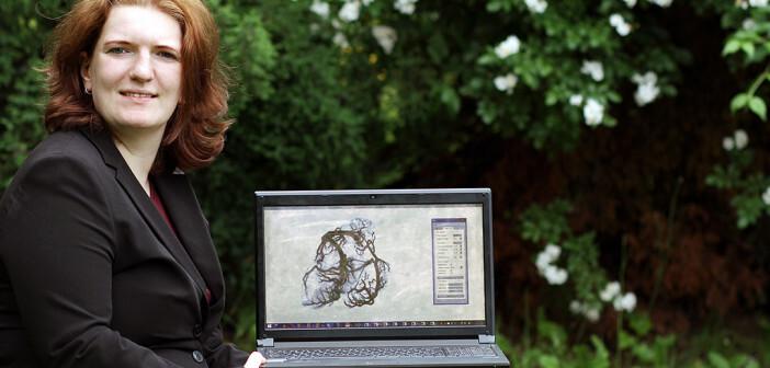 Christina Gillmann entwickelt derzeit ein Computerprogramm zur frühzeitige Diagnose einer Arterienverkalkung. © TU Kaiserslautern