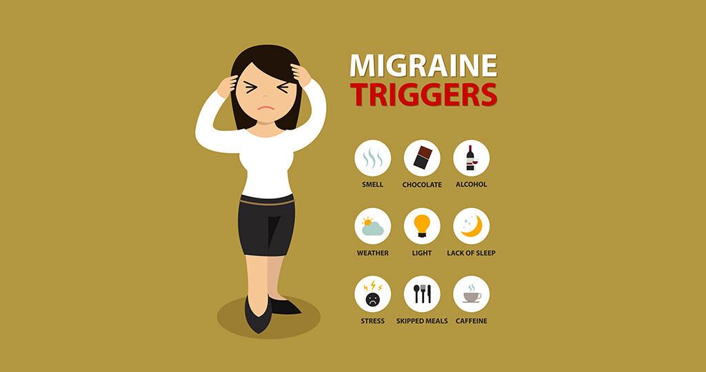 Triggerfaktoren für Migräne. © Arthur-nn / shutterstock.com