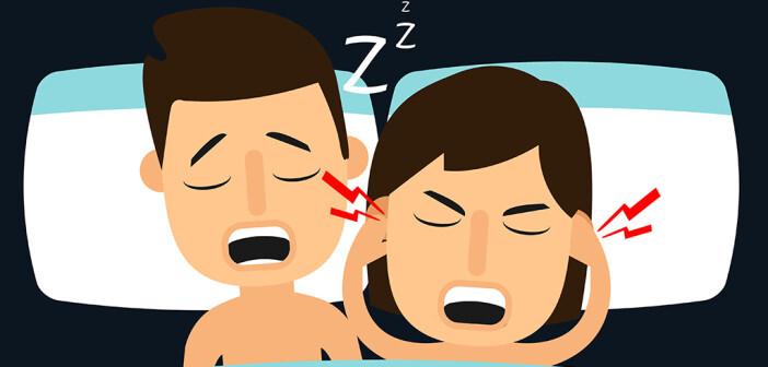 In vielen Schlafzimmern schnarcht ein Partner so stark, dass er dem anderen den Schlaf raubt. © health studio / shutterstock.com