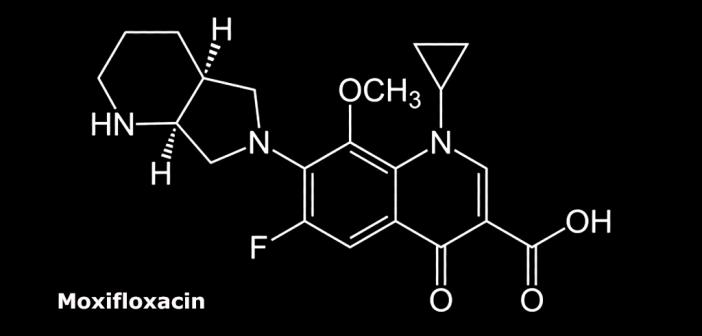 Strukturformel von Moxifloxacin.