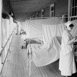 Walter Reed Hospital in Washington DC während der Spanischen Grippe im Winter 1918 / 1919. © Everett Historical / shutterstock.com