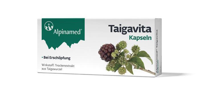 Packung mit Alpinamed® Taigavita-Kapseln