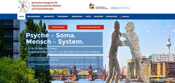 Deutscher Kongress für Psychosomatische Medizin und Psychotherapie 2017 in Berlin