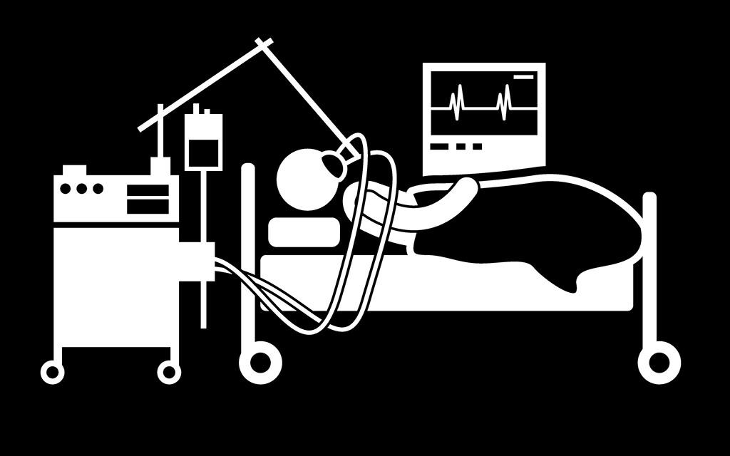Intensivstation, Künstliche Beatmung, Beatmungsgerät, Notfallmedizin © Leremy / shutterstock.com