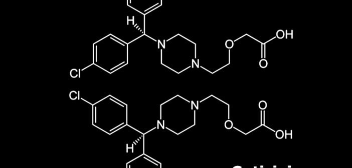 Strukturformel von Cetirizin.