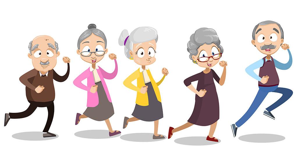 Bewegung bei Senioren © Vectors bySkop / shutterstock.com