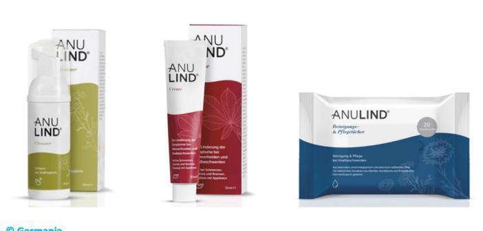 Packshots zu Anulind © Germania Pharmazeutika