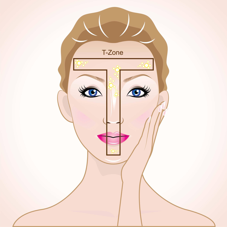 Ureine Haut tritt vor allen an Ahutstellen der sogenannten T-Zone (Kinn, Nase, Stirn) auf. © Phitpibul2014 / shutterstock.com