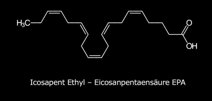 Icosapent ethyl – Eicosapentaensäure EPA (Strukturformel)