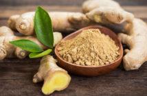 Ingwer, Ingwerextrakt, Ingwertee und Ingwerwasser. Gewürz und Heilpflanze. © pilipphoto / shutterstock.com