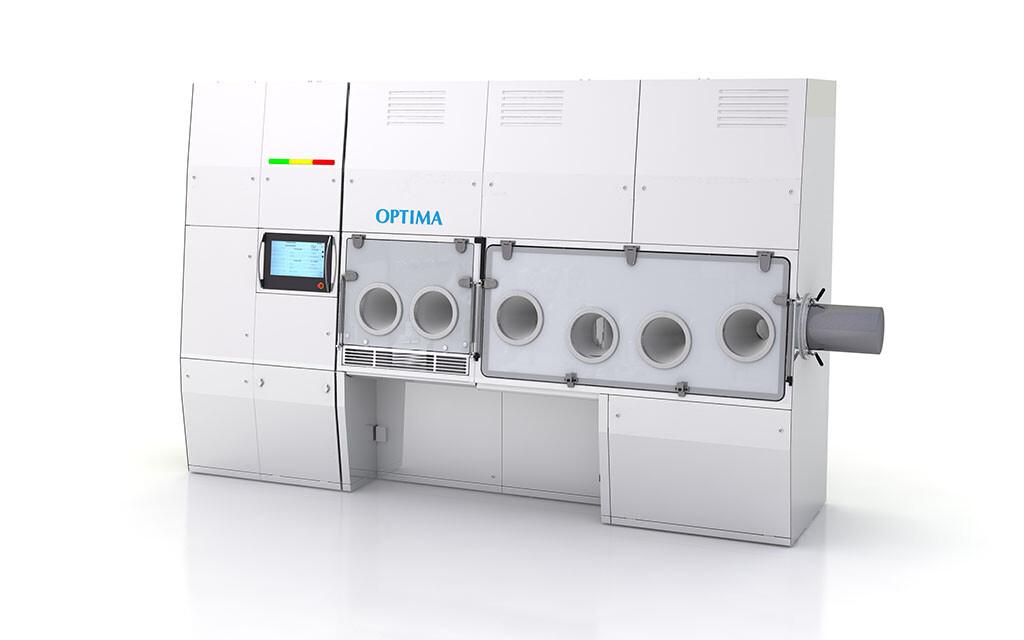 Ein erstes Rendering zeigt, wie die Optima Pharma Produktionsanlage für Zell- und Gentherapeutika aussehen könnte. © OPTIMA packaging group GmbH