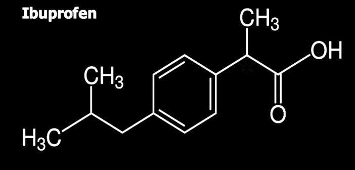 Strukturformel des NSAR Ibuprofen