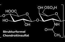 Strukturformel von Chondroitinsulfat